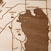 Orcas Island Custom Map Gift - Etched Atlas