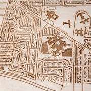 Park Ridge Engraved Wood Map - Etched Atlas