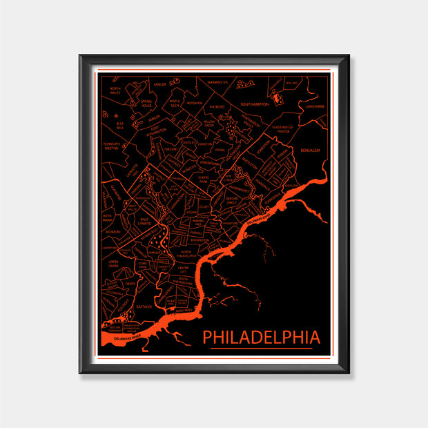 Philadelphia Flyers (Philadelphia Area Map)
