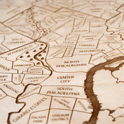 Philadelphia Area Closing Housewarming Gift - Etched Atlas