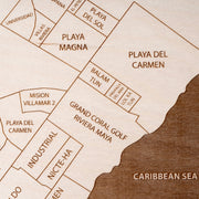 Playa del Carmen Custom Map Gift - Etched Atlas