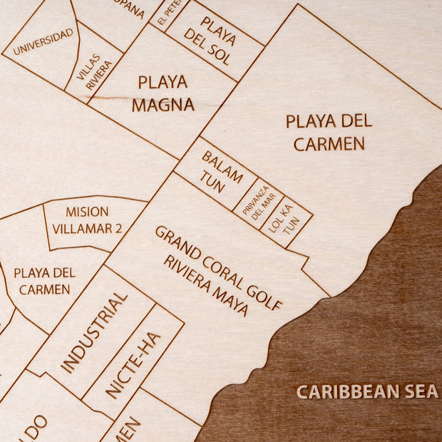 Playa del Carmen-Etched Atlas