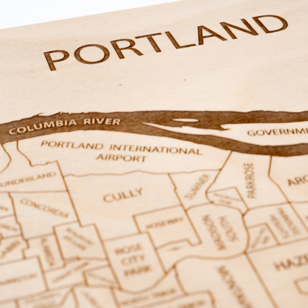 Portland Closing Housewarming Gift - Etched Atlas