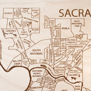 Sacramento Closing Housewarming Gift - Etched Atlas