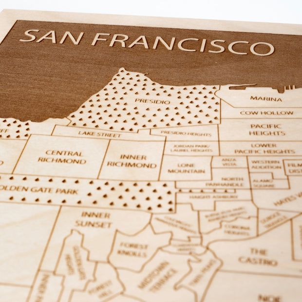 San Francisco Closing Housewarming Gift - Etched Atlas