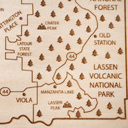 Shasta County Custom Map Gift - Etched Atlas