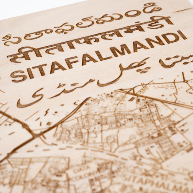 Sitaphalmandi Custom Map Gift - Etched Atlas