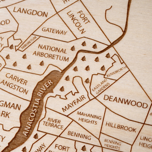 Washington DC Closing Housewarming Gift - Etched Atlas