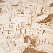 Waterford Custom Map Gift - Etched Atlas