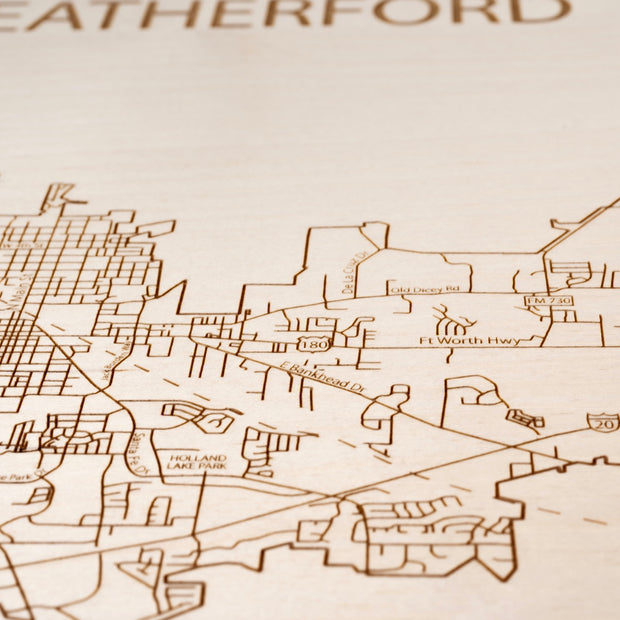 Weatherford Closing Housewarming Gift - Etched Atlas