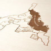 Weatherford Custom Map Gift - Etched Atlas