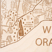 West Orange Custom Map Gift - Etched Atlas