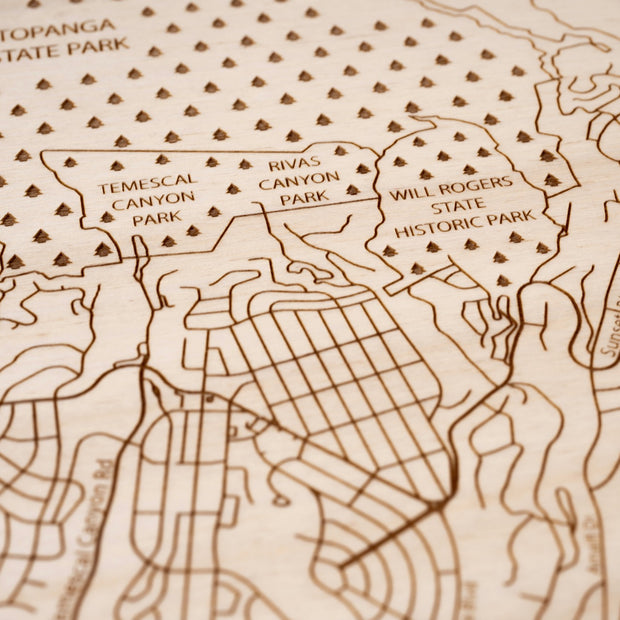 Pacific Palisades Custom Map Gift - Etched Atlas