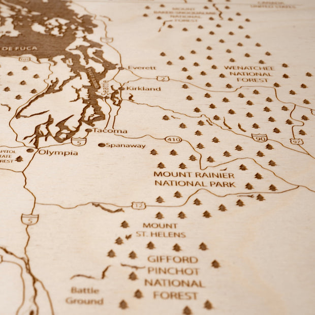 Pacific Northwest-Etched Atlas