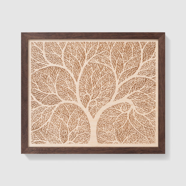 Wood Art 5 Custom Wedding Gift - Etched Atlas