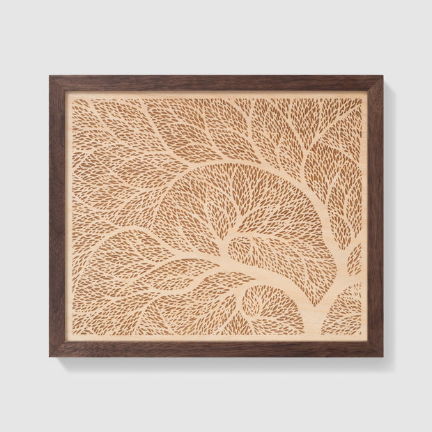 Wood Art 8 Custom Wedding Gift - Etched Atlas