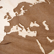 World Map Engraved Wood Map - Etched Atlas