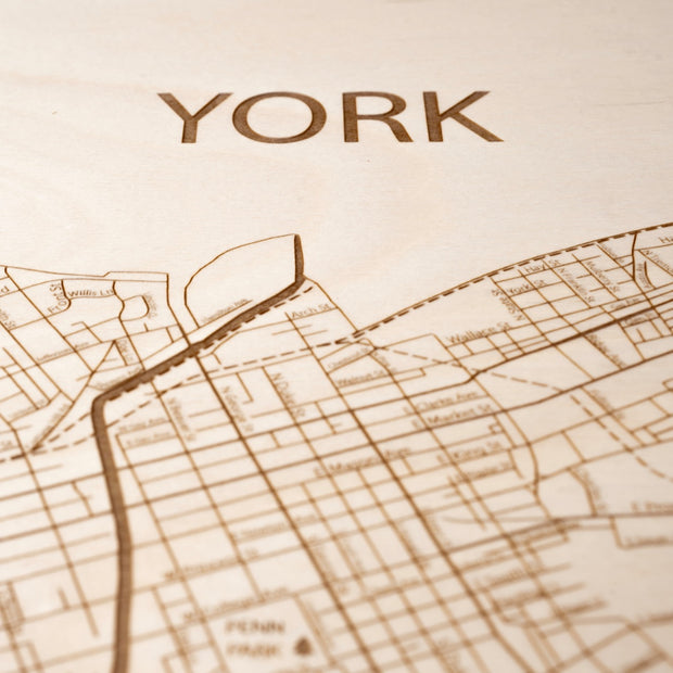 York Closing Housewarming Gift - Etched Atlas