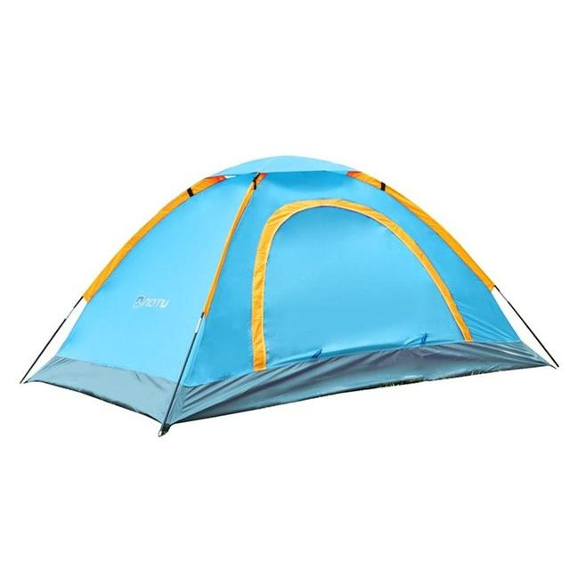Camping Outdoor 1-2 Person Durable Waterproof Camping Aluminum Tent High Quality Tent 210D oxford fabric Backer