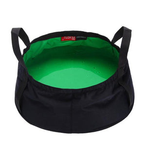 8.5L Portable Collapsible Wash Camping Folding Basin Bucket Camping cookware set Hiking Picnic Cooking Set non-stick Cookware