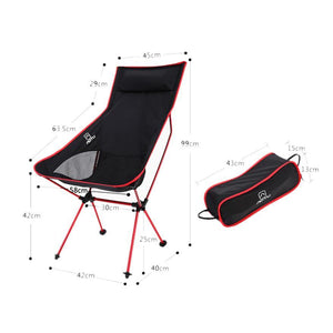 Ultra Light Beach Chair Outdoor Camping Portable Folding Lightweight Chair For Hiking Fishing Picnic Barbecue Vocation