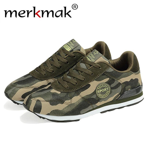 Merkmak Fashion Camouflage Military Men Unisex Canvas Shoes Men Casual Shoes Autumn Breathable Camo Men Flats Chaussure Femme