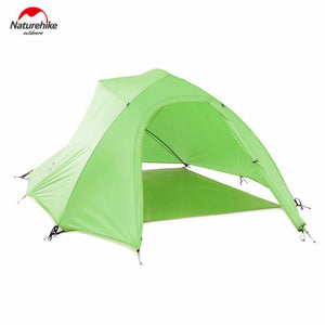 Naturehike Tent 20D Silicone Fabric Ultralight 3 Person Double Layers Aluminum Rod Camping Tent 4 Season With Mat Hot Selling