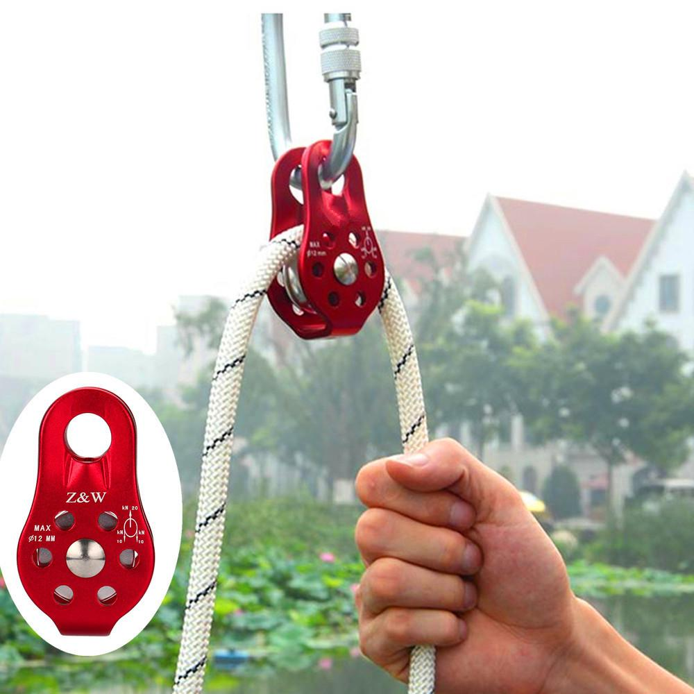 2017 High Quality Outdoor Tools Single Fixed Pulley Mountaineering Rope Climbing Rappelling Survival Camping Equipment #EW