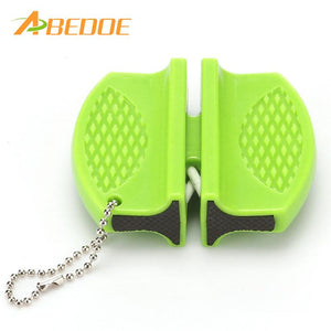ABEDOE Multi-function Knife Sharpener Mini Ceramic Rod Tungsten Steel Camp Pocket Creative Kitchen Knife Sharpener Tool Gadget