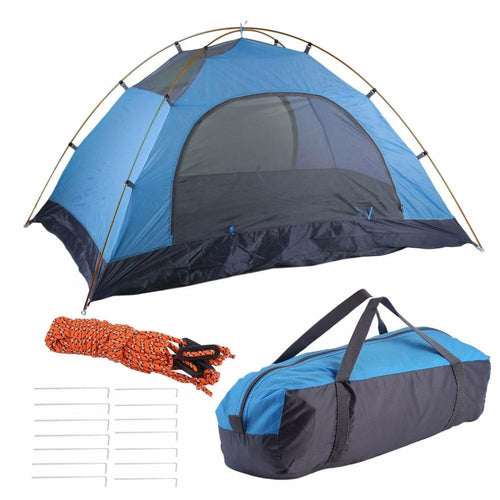 Super Lightweight Tents Waterproof Double Layers 2 Person Tents Outdoor Camping Hiking 190T Polyester Portable Beach Tent