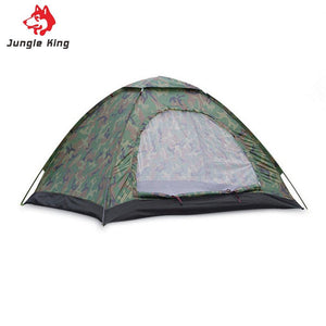 3-4 Person Single Layer Camouflage Camping Tent Outdoor Garden Picnic Hiking climb Rainproof Waterproof Shelter Fiberglass Rod
