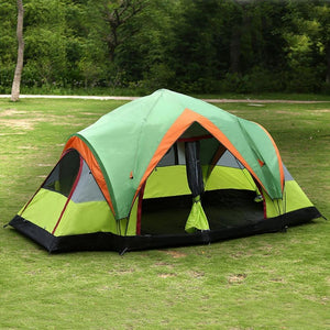 Outdoor Picnic Camping Tent with 2-Rooms Automatic Pop-up Quick Open Double-Layers Tent Suitable for 5~8 Persons Drop Shipping