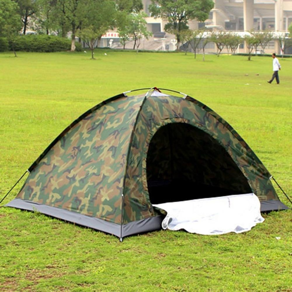 Portable Outdoor Camping Double Persons Tent Waterproof Dirt-proof Camouflage Folding Tent for Travelling Hiking Free Shipping