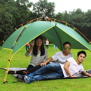 Desert Camel Three-use Automatic Tent Aluminum Alloy Rods Outdoor Camping Tent Rain Proof Anti-UV Shelter Tent