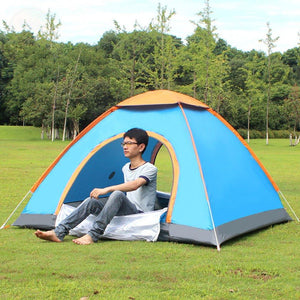 Outdoor Lazy Tents Portable 3-4 Person Automatic Tent Fast Folding Waterproof Anti-UV Hand Throwing Tent Beach Camping Tent