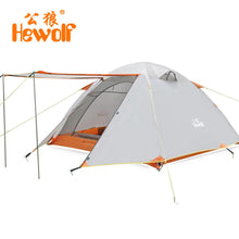 Hewolf Double Layer 3 4 Person Tents Rainproof Waterproof Outdoor Camping Tent Tourist Tent For Hunting Picnic Hiking Camping