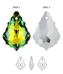 Baroque Crystal Earrings (S) | Choose your colour