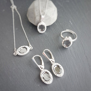 Silver Night Fancy Jewellery Set, [product type], - Personalised Silver Jewellery Ireland by Magpie Gems