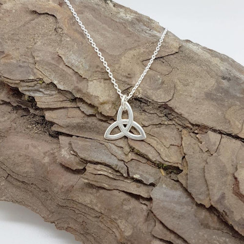 Eternal Unity | Celtic trinity knot necklace, [product type], - Personalised Silver Jewellery Ireland by Magpie Gems