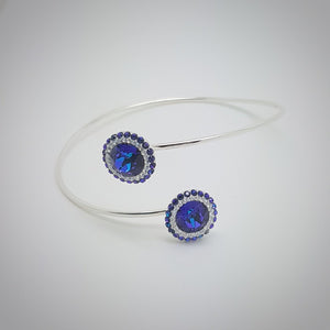 Dazzling Daisy Bangle Bracelet, [product type], - Personalised Silver Jewellery Ireland by Magpie Gems