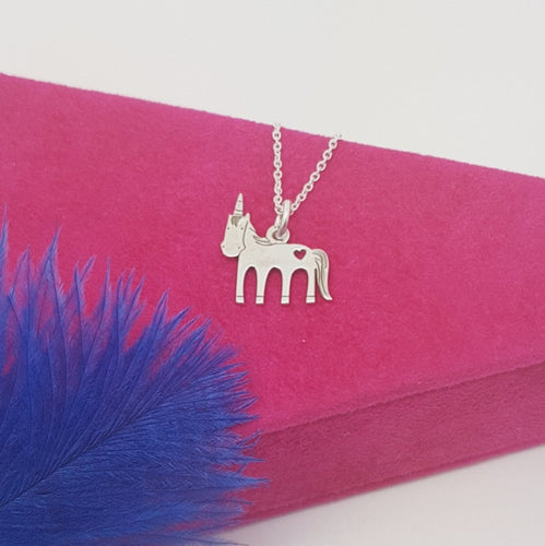 I BELIVE IN MAGIC – Unicorn Necklace, [product type], - Personalised Silver Jewellery Ireland by Magpie Gems