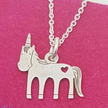 Load image into Gallery viewer, I BELIVE IN MAGIC – Unicorn Necklace, [product type], - Personalised Silver Jewellery Ireland by Magpie Gems
