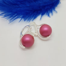 Load image into Gallery viewer, Pearl Drop Earrings with silver leverbacks | choose your colour