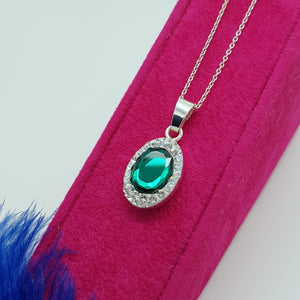 Emerald green fancy jewellery set