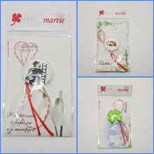 Load image into Gallery viewer, Brooch Martisor Brosa - red and white string