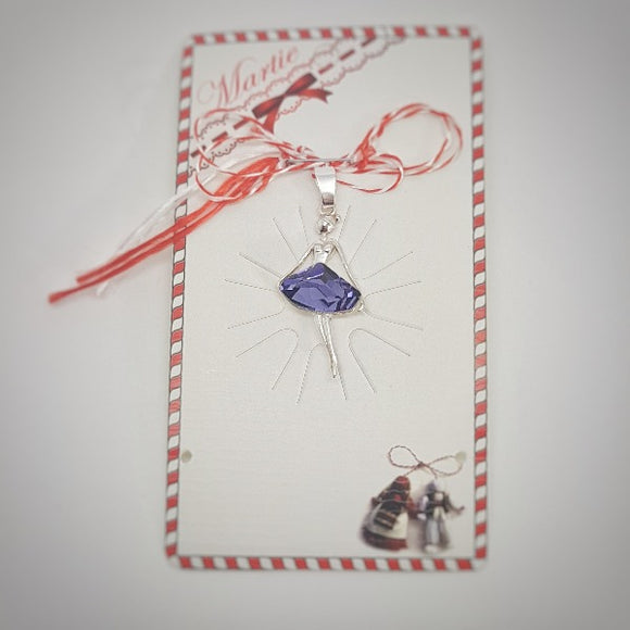 Martisor Ballerina in Sterling Silver