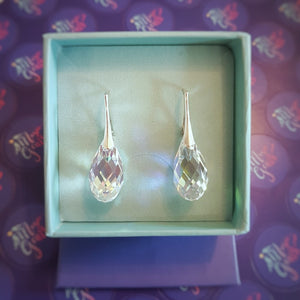 Briollete silver earrings