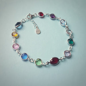 Be Colourful - 12 Crystal Birthstone Multicolored Bracelet