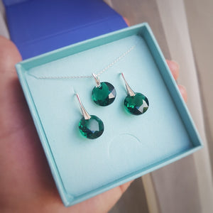 May Taurus Crystal BIRTHSTONE Set | Emerald