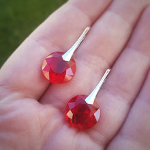 Load image into Gallery viewer, Red Silver Earrings | 3 sizes available